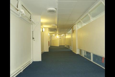High-level vent flaps draw fresh air through the building